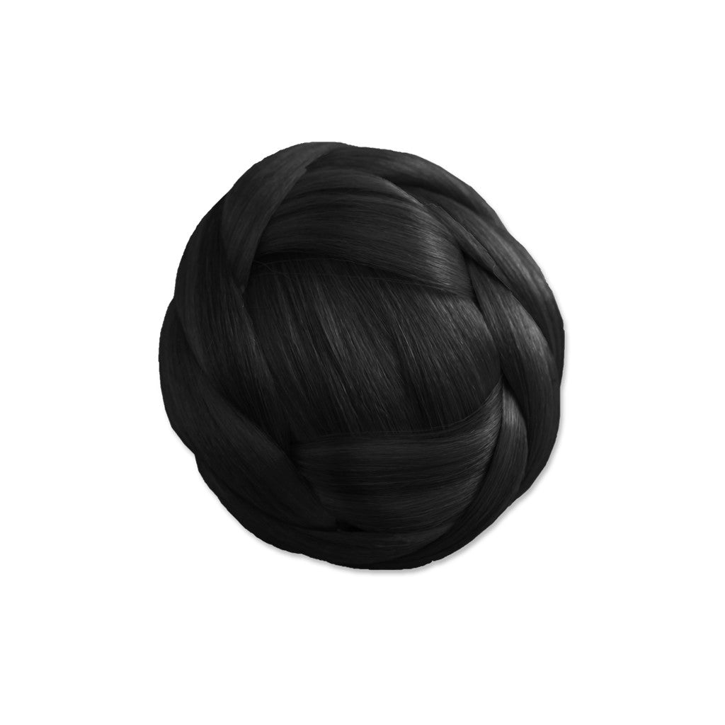 Mia® Clip-n-Bun® - black color - 1 piece - designed by #Mia Kaminski of #MiaBeauty  #Mia #Beauty #HairAccessories #SyntheticWigHair #buns #bunstylingtools
