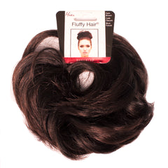 Mia® Fluffy Hair Ponywrap on packaging - dark brown color
