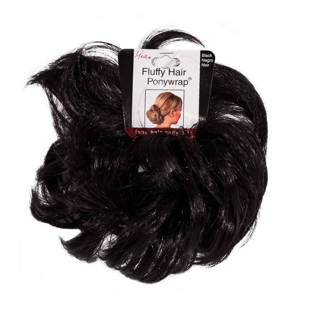 Mia® Fluffy Hair Ponywrap® - Black - #MiaBeauty - designed by #MiaKaminski