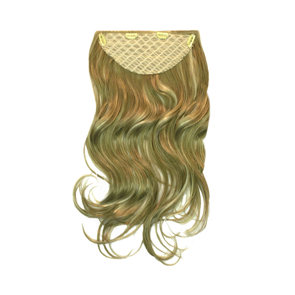 Mia® Clip-n-Hair® - Blonde  color - back side shown with weft clips - by #MiaBeauty designed by #MiaKaminski #beauty #hair #Mia