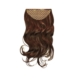 Mia® Clip-n-Hair® commitment free, instant hair, instant volume - medium brown color - designed by #MiaKaminski of #MiaBeauty