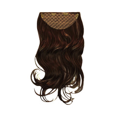 Mia® Clip-n-Hair® - Dark Brown - Mia Beauty - back side with clips shown here - #MiaKaminski #MiaBeauty