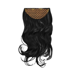 Mia® Clip-n-Hair® commitment free, instant hair, instant volume - black color - back side with clips shown - by #MiaKaminski of Mia Beauty