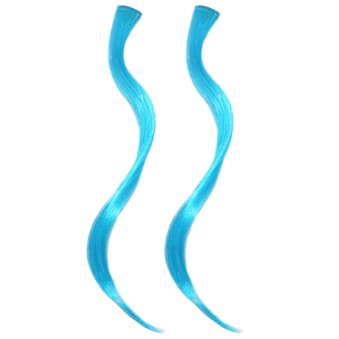 Mia® Clip-n-Color®, Clip On Hair Extensions – synthetic wig hair  - Blue Color – designed by #MiaKaminski of #MiaBeauty #Mia #Beauty #HairAccessories #SyntheticWigHair #extensions