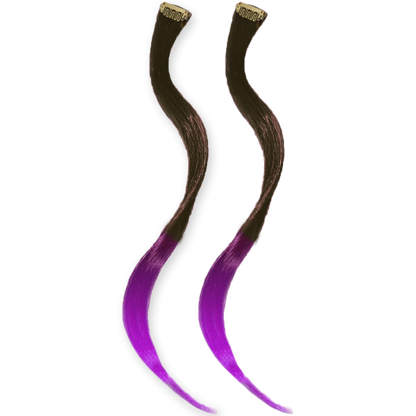 Clip-n-Dipped Ends® - Dark Brown to Purple