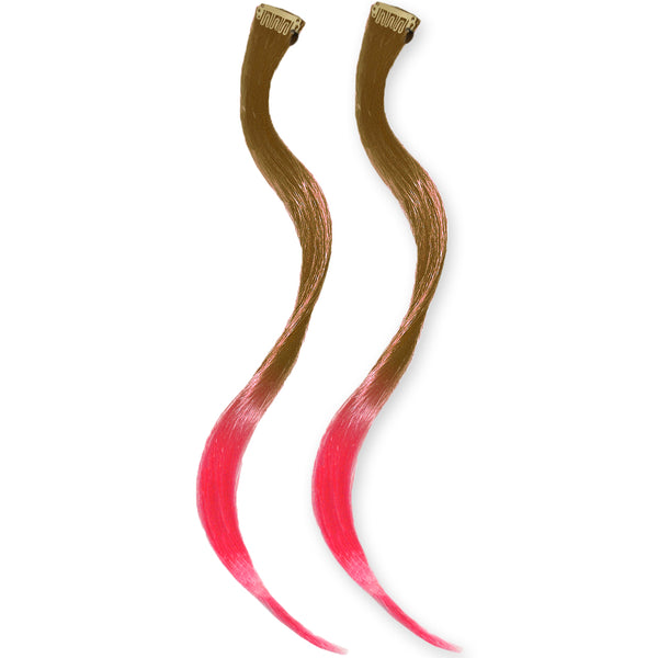 Clip-n-Dipped Ends® - Medium Brown to Hot Pink