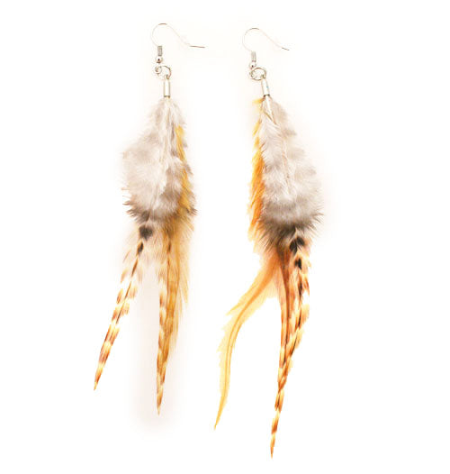 Feather Earrings - Ginger