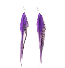 Mia® Feather Earrings - purple color - by #MiaKamimnski of Mia Beauty