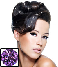 Mia® Crown Jewels - iron on crystals on model by #MiaKaminski of Mia Beauty