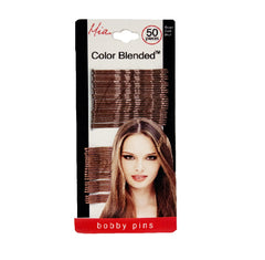 Mia® Color Blended Bobby Pins - medium brown and dark brown color - 50 pieces - designed by #Mia Kaminski of Mia Beauty
