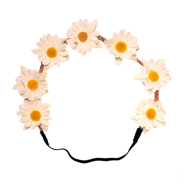 Daisy Flower Halo - Cream
