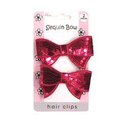 Hair Clips - Sequin Bow - Mia Beauty