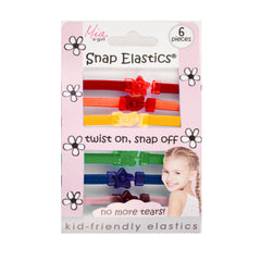 Mia® Girl Snap Elastics® - Rainbow Colors - shown in packaging - #MiaKaminski of Mia Beauty