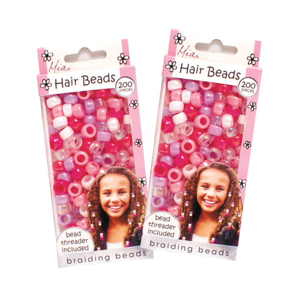 Hair Beads - Assorted Iridescent Pastels (2-pack)