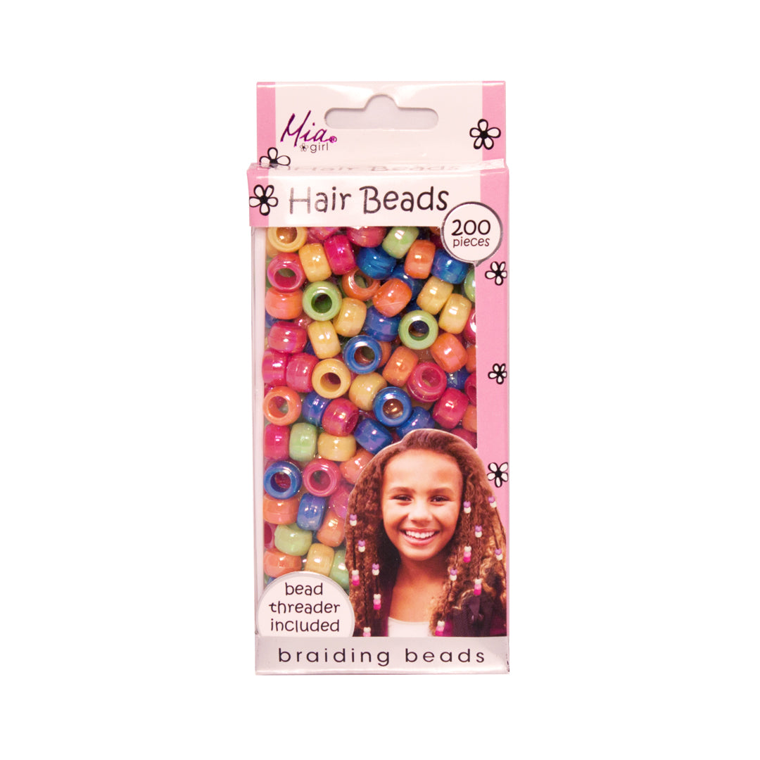 Mia® Girl Hair Beads - 200 beads shown in packaging - assorted rainbow colors - designed by #MiaKaminski #Mia #MiaBeauty #Beauty #Hair #HairAccessories #lovethis #love #life #woman #hairbeads #ethnichair #jamaicanhair