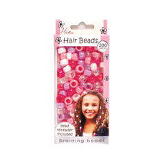 Mia® Girl Hair Beads - 200 beads shown in packaging - assorted pink colors - designed by #MiaKaminski #Mia #MiaBeauty #Beauty #Hair #HairAccessories #lovethis #love #life #woman #hairbeads #ethnichair #jamaicanhair