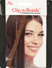 Mia® Clip-n-Braid - light brown color - shown in packaging - 1 piece - designed by #MiaKaminski of #MiaBeauty