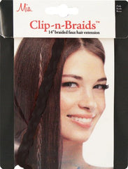 Mia® Clip-n-Braid - black - 1 piece in packaging- designed by #MiaKaminski of #MiaBeauty #HairExtensions #Braids
