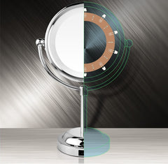 Mia®10x/1x Cordless LED Lighted Vanity Mirror Chrome - showing LED lights inside - #MiaKaminski