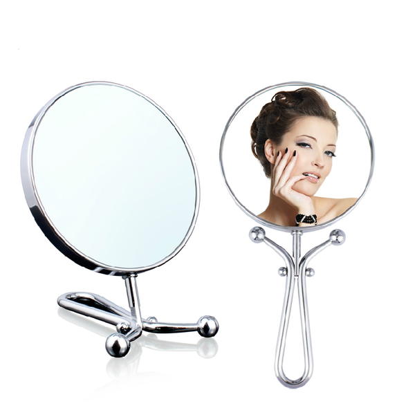 10x/1x Folding Mirror - Polished Chrome