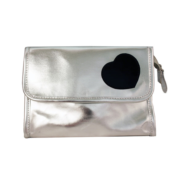 Cosmetic Bag with Mirror - Heart Collection