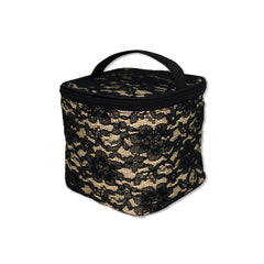 Cosmetic Bucket Bag - Black Lace