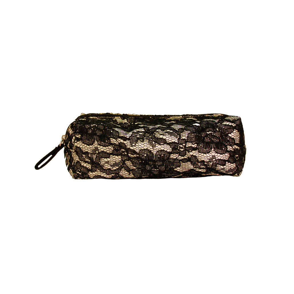 Cosmetic Small Brush Bag - Black Lace - Mia Beauty - 1