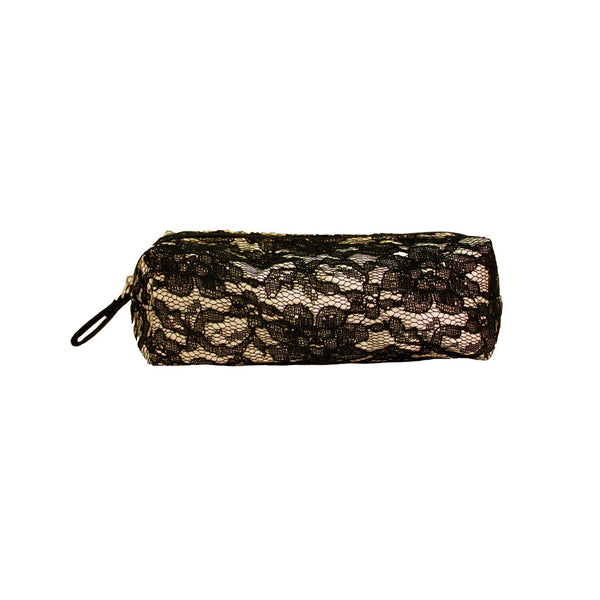 Cosmetic Small Brush Bag - Black Lace