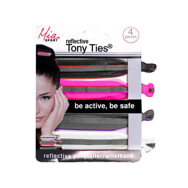 Tony Ties® - Reflective - Black, Pink, Grey, White
