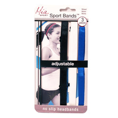 Mia® Sport Bands™ Thin Headbands - Black, white, royal blue - #MiaKaminski Mia Beauty