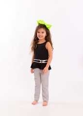 Mia® Spirit Grosgrain Ribbon Bow Barrette - large size - lime green on #EllaOnBeaty - designed by #MiaKaminski of Mia Beauty