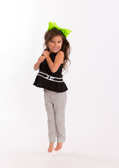 Mia® Spirit Grosgrain Ribbon Bow Barrette - large size - lime green on #EllaOnBeauty - designed by #MiaKaminski of Mia Beauty