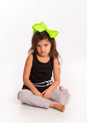 Mia® Spirit Grosgrain Ribbon Bow Barrette - large size - lime green color on #EllaOnBeauty - designed by #MiaKaminski of Mia Beauty