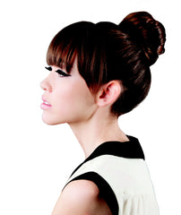 Mia® Bun Ease® - brown color - shown as a top know in models hair - Mia® Beauty #MiaKaminski
