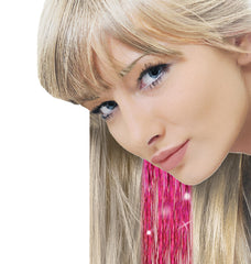 Mia® Clip-n-Bling - pink color - shown on model - designed by #MiaKaminski of #Mia Beauty