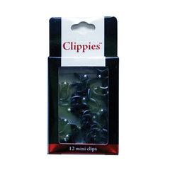 Mia® Clippies® Small Jaw Clamp Clips  - black color - 12 pieces in packaging - by #MiaKaminski of #MiaBeauty #hairaccessories #hairclips
