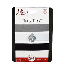 Mia Tony Ties® Charms - Grey, White w/ Crown, Black - #MiaBeauty #Mia #beauty #hair #hairacessories #lovethis #woman