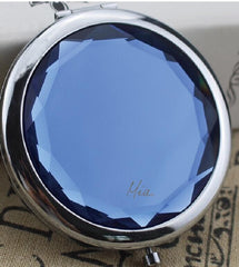 Mia® Jeweled Compact Mirror - blue color rhinestone - invented by #MiaKaminski #MiaBeauty #Mia #beauty #Mirrors