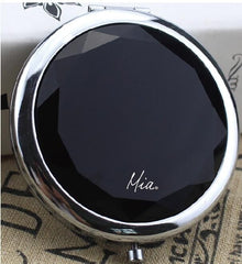 Mia® Jeweled Compact Mirror - black color rhinestone - invented by #MiaKaminski #MiaBeauty #Mia #beauty #Mirrors