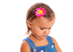 Mia® Baby Daisy Flower Barrette - hot pink color - shown on #EllaKaminski #EllaOnBeauty - by #MiaKaminski #Mia #MiaBeauty #beauty #hair #HairAccessories #baby #girlhairaccessories #hairclips #hairbarrettes #barrette #lovethis #love #life #woman