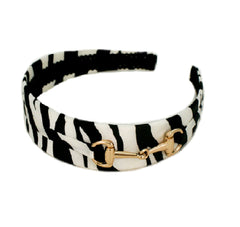 Mia® Zebra Print Headband with  Gucci inspired Horse Bit Ornament - designed by #MiaKaminski #Mia #MiaBeauty #Beauty #Hair #HairAccessories #headbands #blackandwhiteheadband #lovethis #love #life #woman