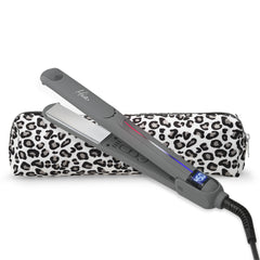 Mia® Professional Straightening Iron electrical hair straightening iron with 1 inch titanium plates by #MiaKaminski of Mia Beauty