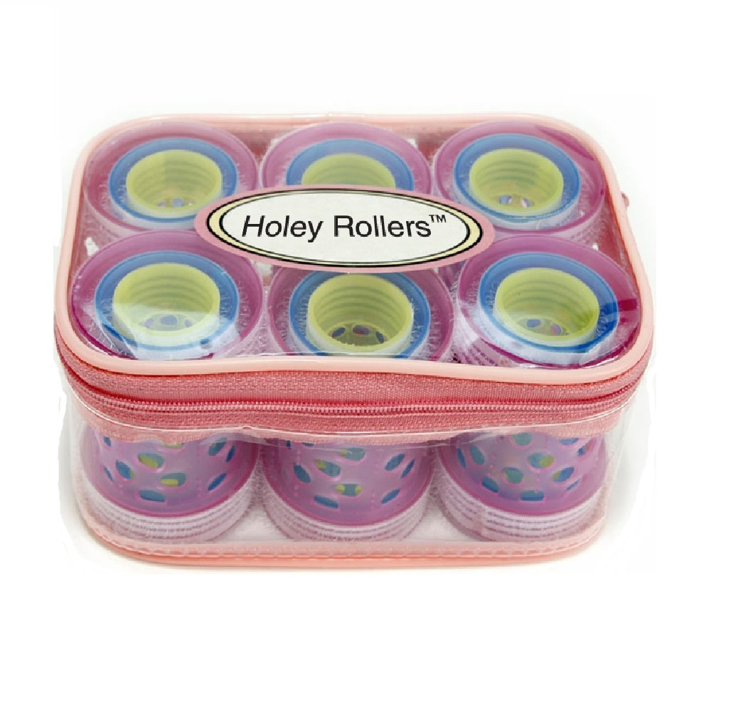Mia® Holey Rollers® Pink 18 piece set in zippered pouch -  #MiaKaminski #Mia #MiaBeauty #beauty #hair #hairstylingtools #rollers #curlers #lovethis #love #life #woman #selfgriprollers