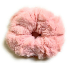 Mia Beauty Furry Scrunchie Ponytail holder hair accessory pink color