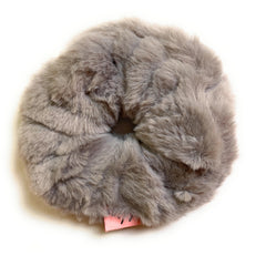 Mia Beauty Furry Scrunchie Ponytail holder hair accessory gray color