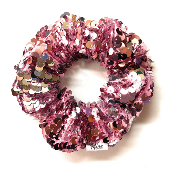 Sequins Scrunchie - pink