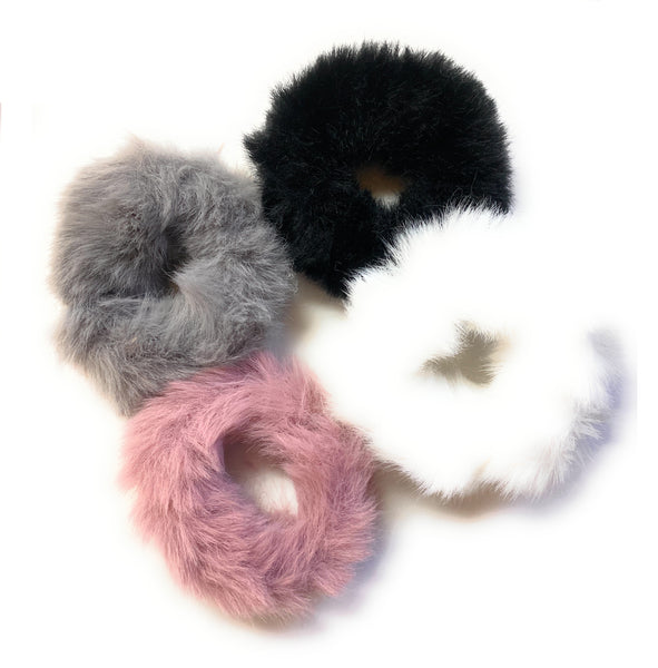 Mini Furry Scrunchies - 4 pack