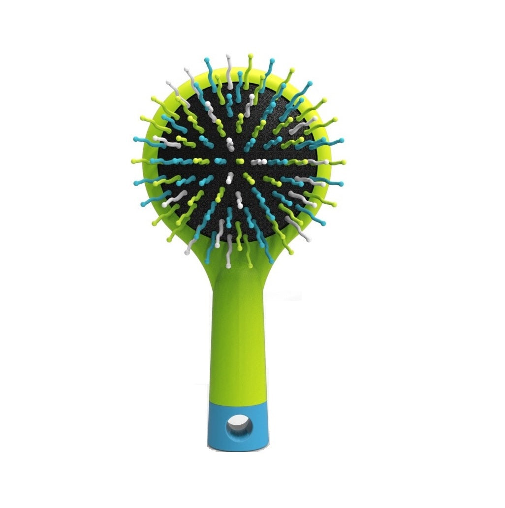 Happy Brush™ + Mirror - Lime Green