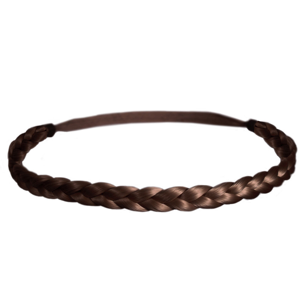 Mia® Thick Braidie® - synthetic wig hair braided headband - light brown color - patented by #MiaKaminski of #MiaBeauty #Mia #Beauty #HairAccessories #Headbands #Braids #SyntheticWigHair #SyntheticHairHeadbands