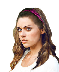 Mia® Tony Bands® - Glitter Headband pink with Bow - on model - #MiaKaminski #Mia #MiaBeauty #Beauty #Hair #HairAccessories #headbands #headwraps #lovethis #love #life #woman